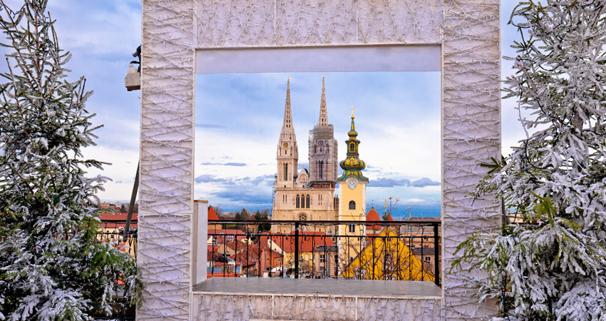 a-GTI-croatia_Zagreb cathedral and cityscape advent view, famous landmarks of Croatian capital city